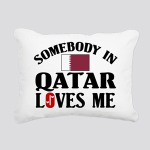 Somebody In Qatar Rectangular Canvas Pillow