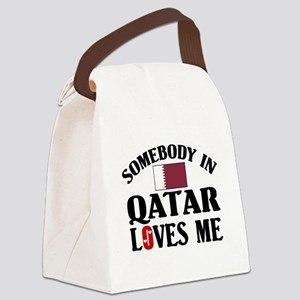 Somebody In Qatar Canvas Lunch Bag