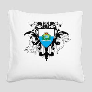 Stylish San Marino Square Canvas Pillow