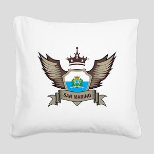 San Marino Emblem Square Canvas Pillow