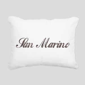 Vintage San Marino Rectangular Canvas Pillow