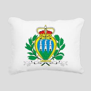 San Marino Coat Of Arms Rectangular Canvas Pillow