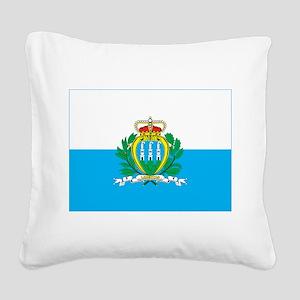 San Marino Square Canvas Pillow