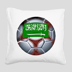 Football Saudi Arabia Square Canvas Pillow
