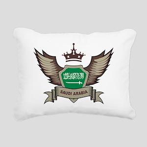 Saudi Arabia Emblem Rectangular Canvas Pillow