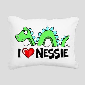 I Love Nessie Rectangular Canvas Pillow