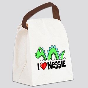I Love Nessie Canvas Lunch Bag