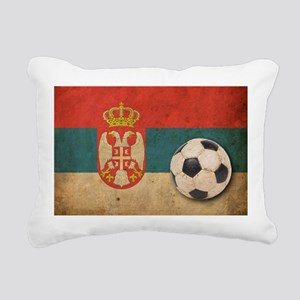 Vintage Serbia Football Rectangular Canvas Pillow