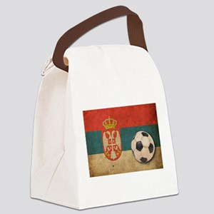 Vintage Serbia Football Canvas Lunch Bag