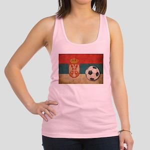 Vintage Serbia Football Racerback Tank Top