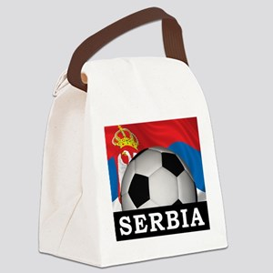Football Serbia Canvas Lunch Bag