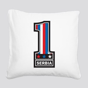 Number One Serbia Square Canvas Pillow