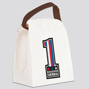 Number One Serbia Canvas Lunch Bag
