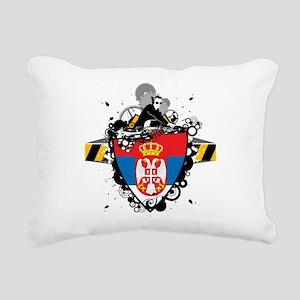 Hip Serbia Rectangular Canvas Pillow