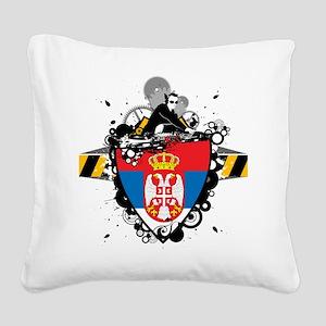 Hip Serbia Square Canvas Pillow