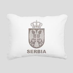 Vintage Serbia Rectangular Canvas Pillow
