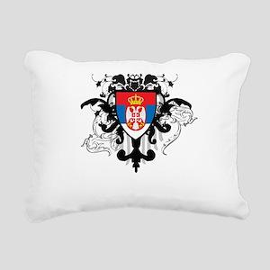 Stylish Serbia Rectangular Canvas Pillow