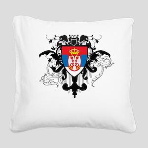 Stylish Serbia Square Canvas Pillow