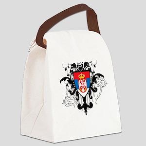Stylish Serbia Canvas Lunch Bag