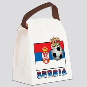 Serbia Football Canvas Lunch Bag