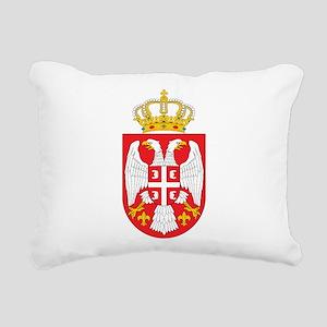 Serbia Coat Of Arms Rectangular Canvas Pillow