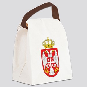 Serbia Coat Of Arms Canvas Lunch Bag
