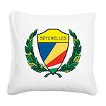 Stylized Seychelles Square Canvas Pillow