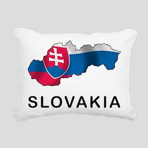 Map Of Slovakia Rectangular Canvas Pillow