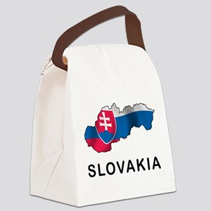 Map Of Slovakia Canvas Lunch Bag