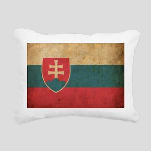 Vintage Slovakia Flag Rectangular Canvas Pillow