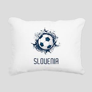 Slovenia Football Rectangular Canvas Pillow