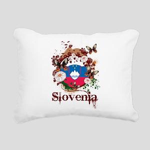 Butterfly Slovenia Rectangular Canvas Pillow