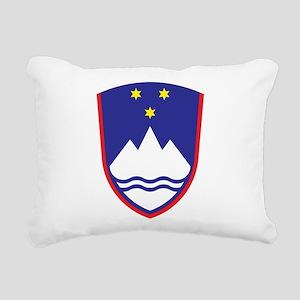 Slovenia Coat Of Arms Rectangular Canvas Pillow