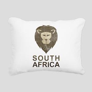 Vintage South Africa Rectangular Canvas Pillow