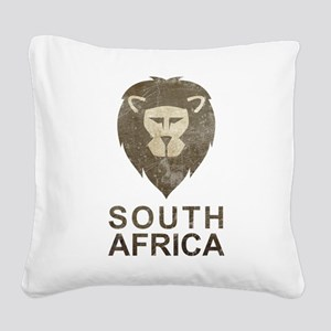 Vintage South Africa Square Canvas Pillow