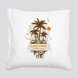 Cape Town South Africa Square Canvas Pillow