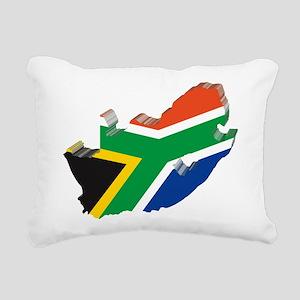 3D South Africa Flag Rectangular Canvas Pillow