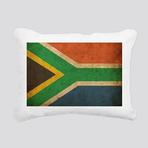 Vintage South Africa Flag Rectangular Canvas Pillo