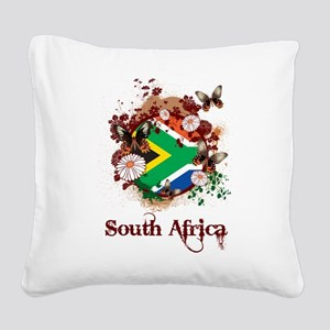 Butterfly South Africa Square Canvas Pillow