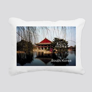 South Korea Rectangular Canvas Pillow