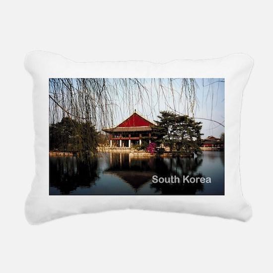 South Korea Rectangular Canvas Pillow