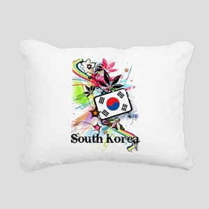 Flower South Korea Rectangular Canvas Pillow