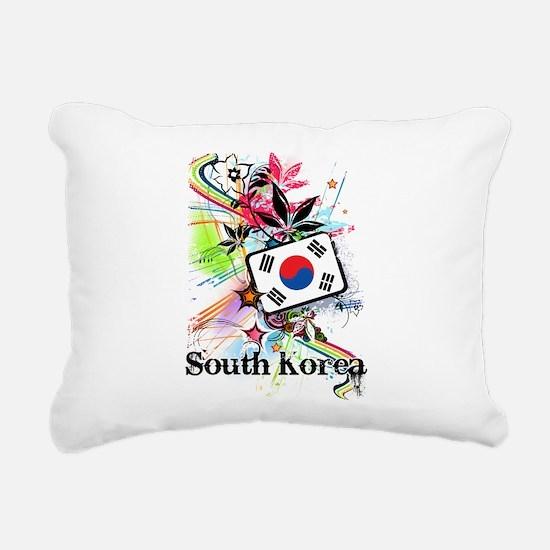 Flower South Korea Rectangular Canvas Pillow