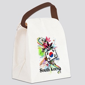 Flower South Korea Canvas Lunch Bag