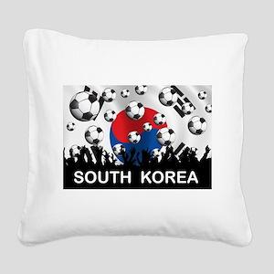 South Korea Football Square Canvas Pillow