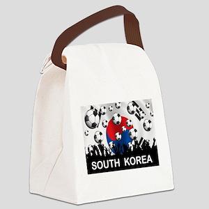South Korea Football Canvas Lunch Bag