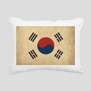 Vintage South Korea Flag Rectangular Canvas Pillow