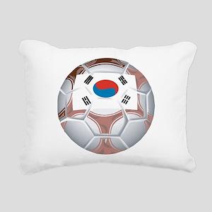 South Korea Soccer Rectangular Canvas Pillow