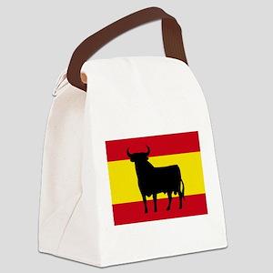 Spain Bull Flag Canvas Lunch Bag