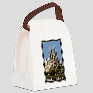 Barcelona Sagrada Familia Canvas Lunch Bag